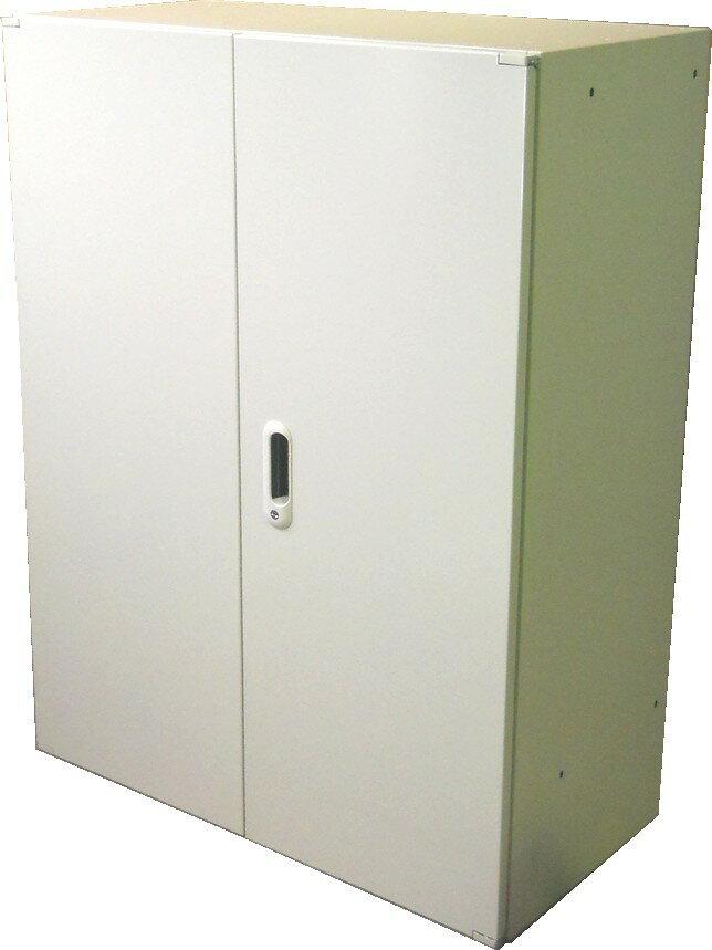 アウトレット プラス 両開き書庫W800,D400,H1050ミリA4ファイル3段収納 ホワイト色【送料無料】
