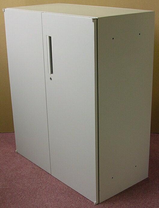 わけあり アウトレット(訳あり) 両開き書庫H1050ミリ T-10Dペールグレイ色【送料無料】
