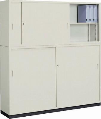 コクヨ (KOKUYO) A4サイズ対応保管庫(書庫) W1760×D400ミリ(上下スチール扉セット) S-625F1N+S-645F1N+S-614BF4 【送料無料】