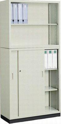 コクヨ (KOKUYO) A4サイズ対応保管庫(書庫) W880ミリタイプ(上下セット) 上=オープン、下=スチール扉 S-K320F1N+S-345F1N+S-314BF4 【送料無料】
