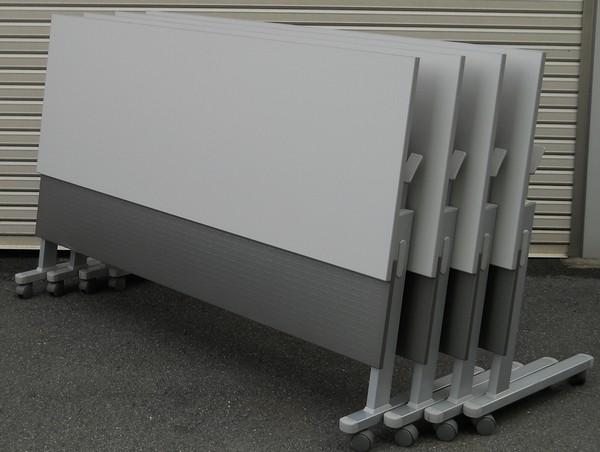 【わけあり アウトレット(訳あり)】サイドスタックテーブルSN-1860M型 4台セット【送料無料】