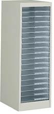 コクヨ (KOKUYO) 書類整理庫 プラスチック整理ケース オープントレータイプ A4縦型 1列18段 W300×D400×H880ミリ S-WA311F1N 【送料無料】