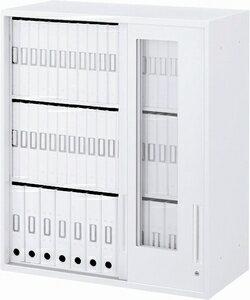受注品UCHIDA (内田洋行・ウチダ) ハイパーストレージHS 透明3枚引き違い書庫 (上置) W800×D450×H1050ミリ HS800 GTH-10U(C) 5-824-6103 【送料無料】