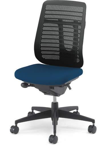 【在庫処分品・新品】コクヨ 事務椅子ベルガー ハイバック 肘無し(ワイドクッションタイプ)プルシアンブルー色 ナイロンキャスター【送料無料】