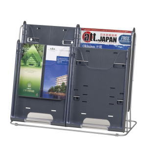 UCHIDA(ウチダ・内田洋行) 卓上型パンフレットケース A4対応 2列2段 W492×D190×H395ミリ 6-400-7514 【送料無料】