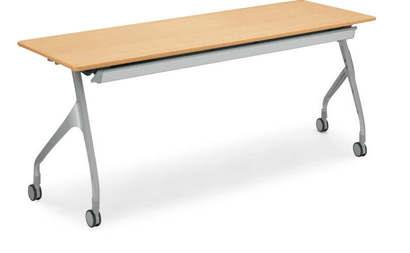 【在庫処分品・新品】 コクヨ 平行スタックテーブルパネルなし 天板:ライトナチュラル色W1800,D450,H720ミリ(アルミダイカスト脚の高級タイプです。)【送料無料】