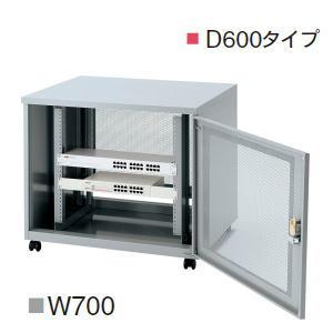 UCHIDA(内田洋行・ウチダ) LAN用ワゴン DNシリーズ(EIA規格19インチラック) W700×D600×H600ミリ LAN用ワゴン DN0706DN 5-200-0004 【送料無料】