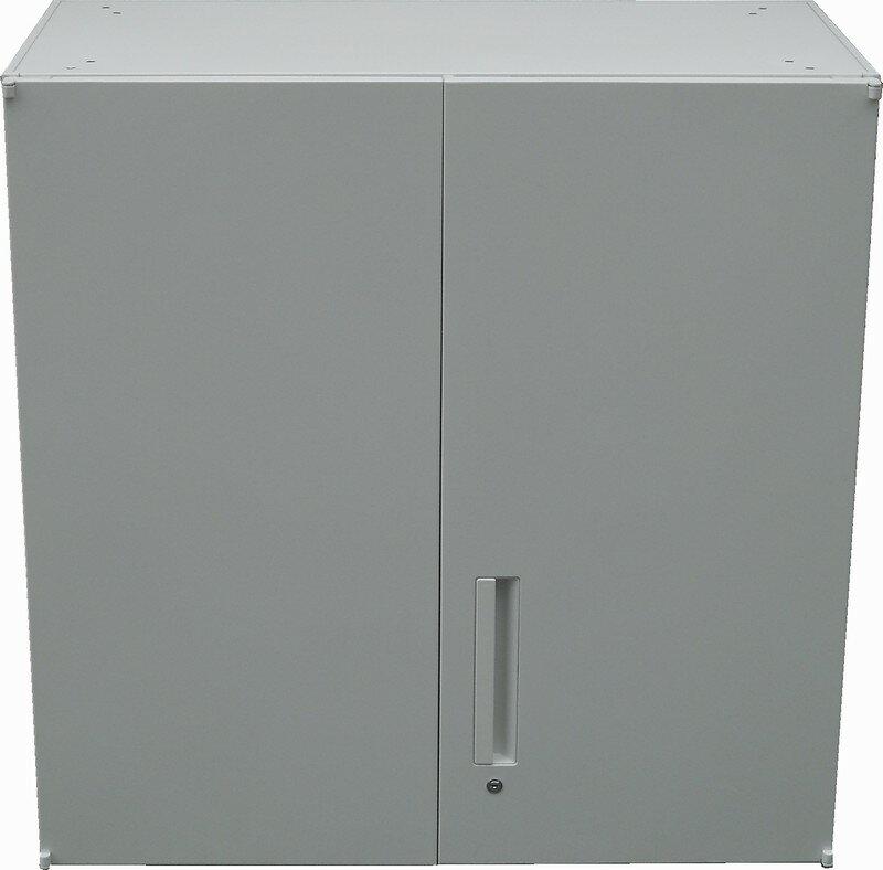 【わけあり アウトレット(訳あり)】 両開き書庫H900ミリ T-09U(上置き)オフホワイト色【送料無料】