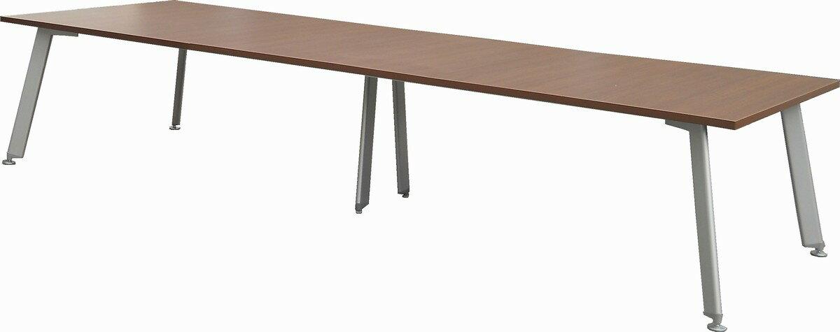 ナイキ 大型ミーティングテーブルW3600,D1200,H720ミリ 木目天板【中古】