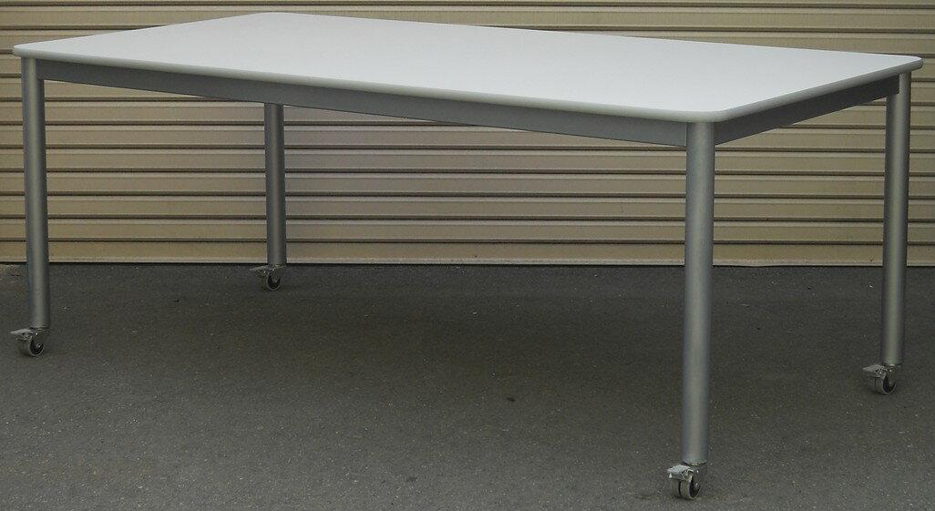ミーティングテーブル キャスター付きW1800,D900,H700ミリ【中古】