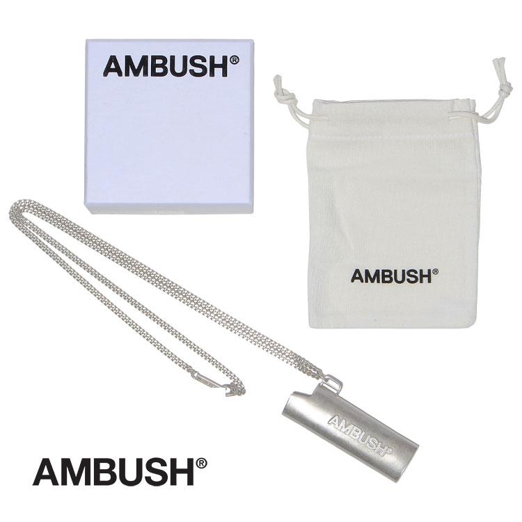 送料無料 新品 ブランド 国内在庫 おしゃれ かわいい プレゼント アンブッシュ AMBUSH 在庫一掃売り切りセール メンズ アクセサリー ネックレス レディース ライターケース シルバー ロゴ