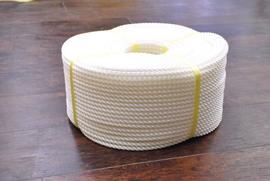 ロープ PE(ポリエチレン)ロープ白色 分径(直径)9mm お得な200m巻!