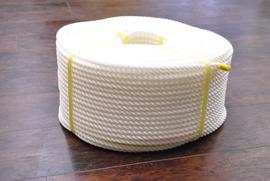 ロープ PE(ポリエチレン)ロープ白色 分径(直径)10mm お得な200m巻!
