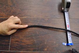 ロープ PE(ポリエチレン)ロープ黒色 分径(直径)8mm お得な200m巻!