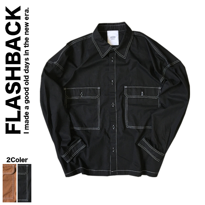 FLASHBACK フラッシュバック Oversize White stitch shirt