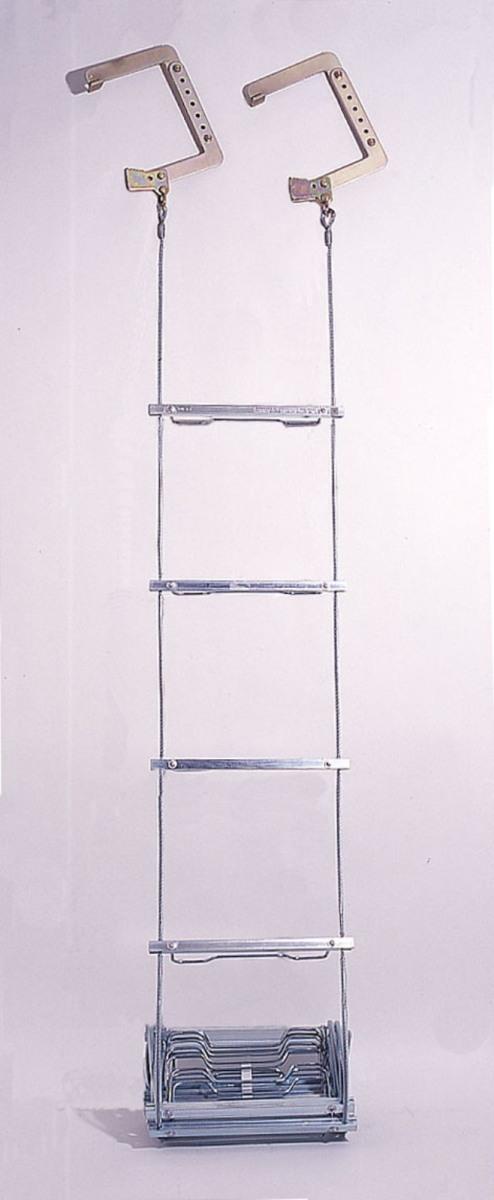 ORIRO ワイヤーロープ式梯子(5号)&BOX(スチール)セット【送料無料】