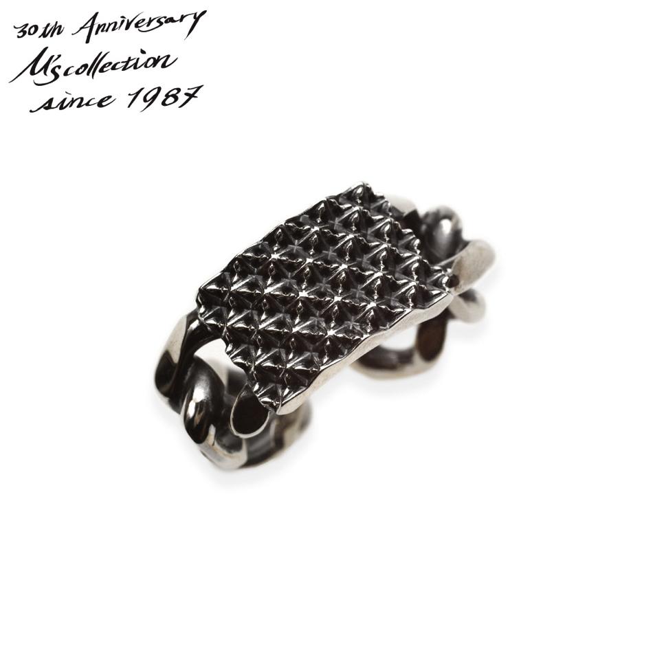 M's collection 30周年記念特別モデル エムズコレクション XR-031 TRIPLE X EDITION STUDS CHAIN RING スタッズチェーンリング フリーリング Made in Japan ファッション シルバー メンズ レディース ペア アクセサリー 送料無料