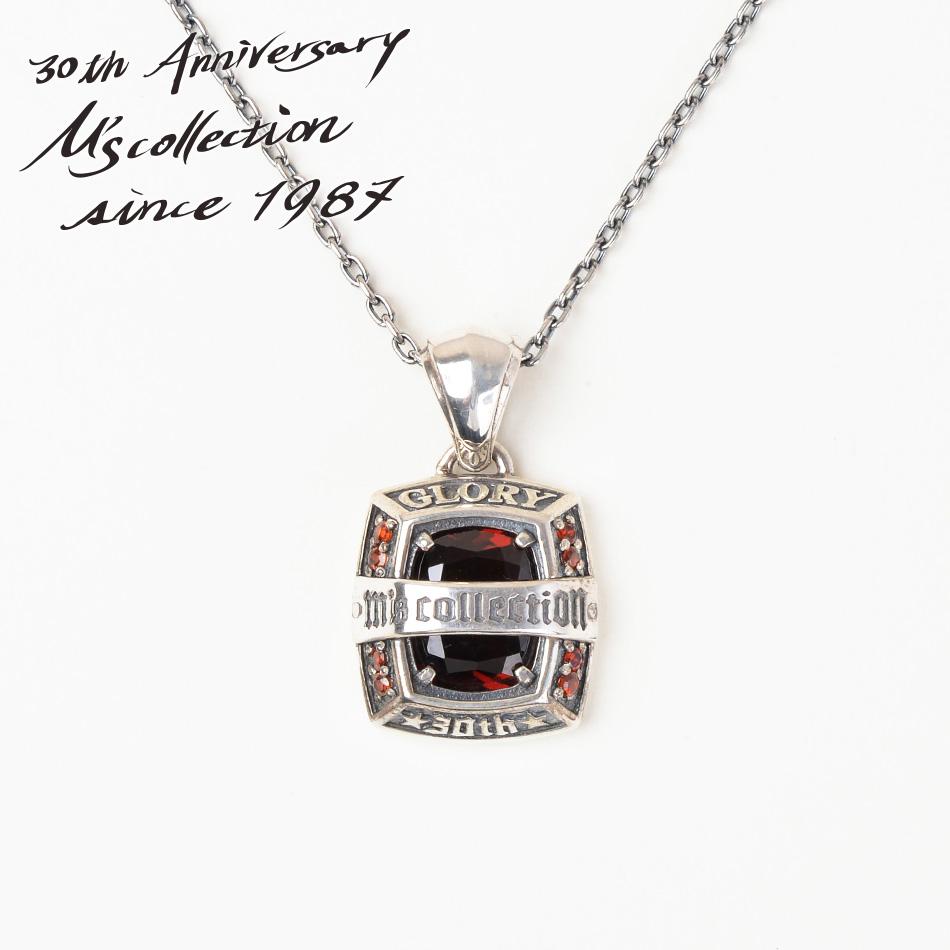 M's collection エムズコレクション XP-137 30thアニバーサリーストーンペンダント ネックレス Made in Japan Silver STONE NECKLACE PENDANT ファッション シルバー メンズ レディース ペア アクセサリー ジュエリー 送料無料