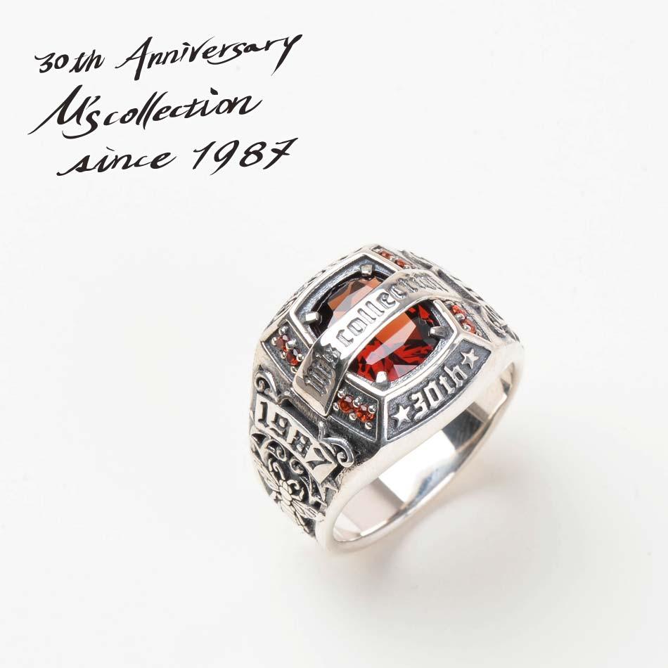 M's collection エムズコレクション XR-023 30thアニバーサリーストーンリング Made in Japan Silver STONE RING ファッション シルバー メンズ レディース ペア アクセサリー ジュエリー プレゼント ギフト ラッピング 送料無料