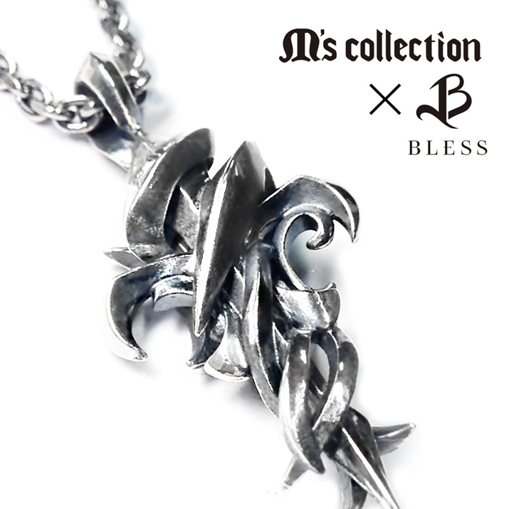 【MADE IN JAPAN】【送料無料】【M's collection】ペンダント クロス ユリ メンズ ジュエリー ペア アクセサリー silver925 シルバー925 ネックレス 誕生日 記念日 X0286 プレゼント 母の日 卒業祝い 入学祝い 入社祝い