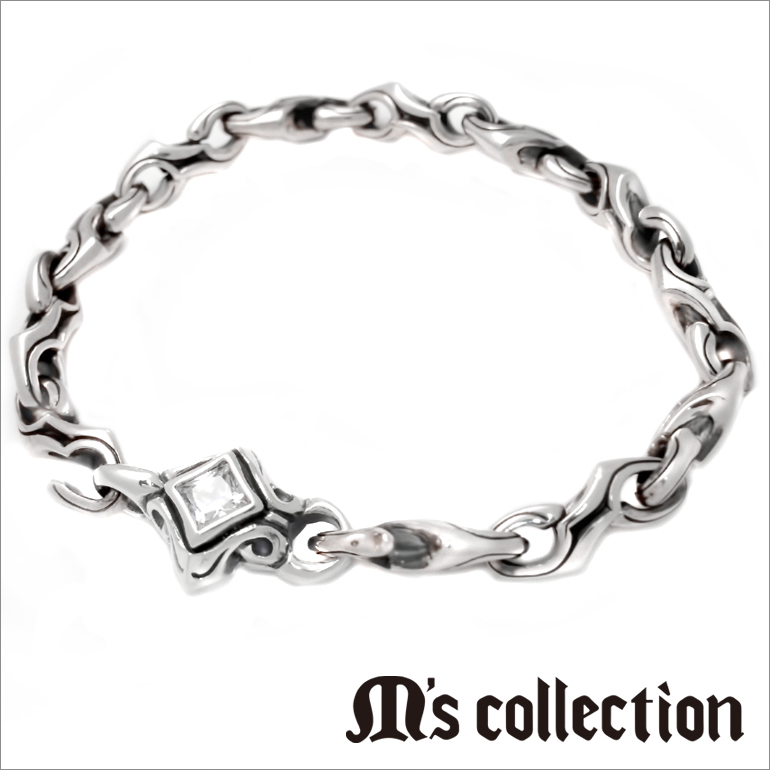 【MADE IN JAPAN】【M's collection】シルバー ブレスレット メンズ ジュエリー シンプル キュービックジルコニア アクセサリー silver925 シルバー925 送料無料 誕生日 記念日 ラッピング包装 4S4X0282 プレゼント 母の日 卒業祝い 入学祝い 入社祝い