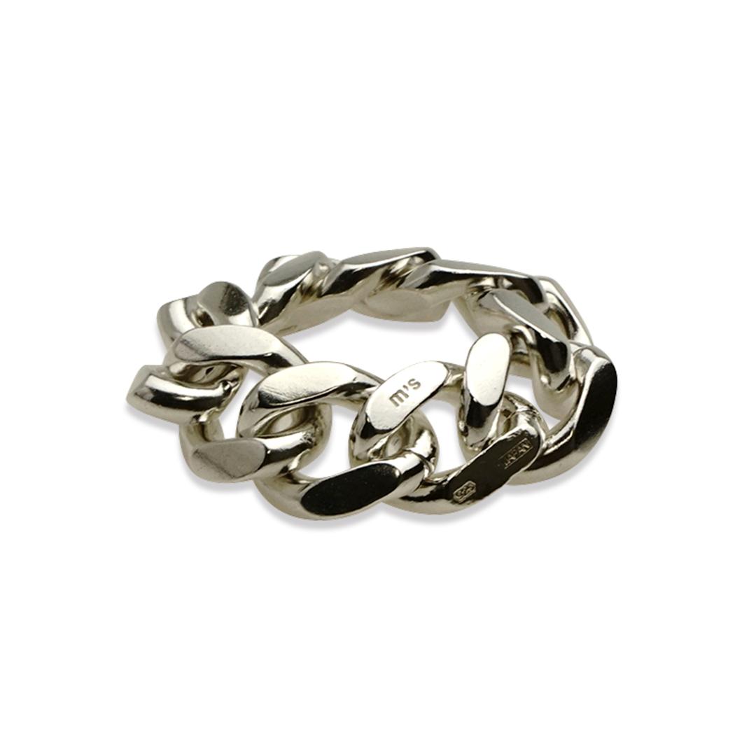 M's collection エムズコレクション FR-004 FINE CHAIN RING ファインチェーンリング ファッション メンズ レディース ペア アクセサリー ジュエリー 送料無料