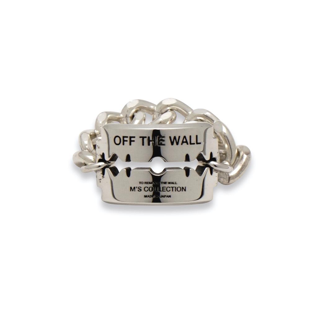 M's collection エムズコレクション XR-035 OFF THE WALL RAZOR CHAIN RING オフザウォール レイザーチェーンリング ファッション メンズ レディース ペア アクセサリー ジュエリー 送料無料 ギフト