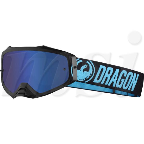 Dragon ドラゴン MXV Plus プラス MX ゴーグル ブルーブラック ルーマブルーイオン&クリアレンズ 722-2051