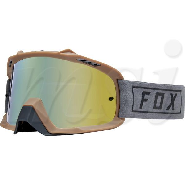 FOX フォックス AIR Space エアスペース MX ゴーグル Gasoline ガソリン グレー ゴールドスパークレンズ 22678-006
