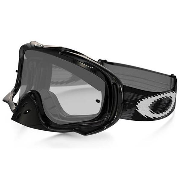 Oakley オークリー Crowbar Snow X クローバー スノーX ゴーグル スノーモービル用 Jet Black Speed ジェットブラックスピード デュアルクリアレンズ 59-456