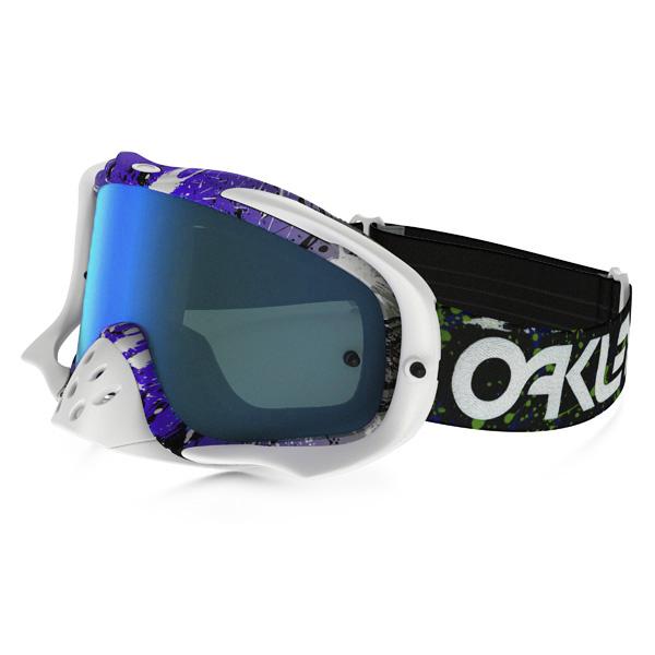 Oakley オークリー Crowbar クローバー MX ゴーグル Factory Pilot ファクトリーパイロット Splatter スプラッター グリーンパープル バイオレットイリジウム&クリアレンズ OO7025-39