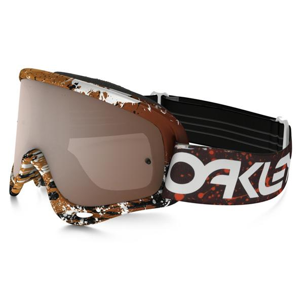 Oakley オークリー O Frame Oフレーム MX ゴーグル Factory Pilot ファクトリーパイロット Splatter スプラッター ブラッドオレンジ ブラックイリジウム&クリアレンズ OO7029-28