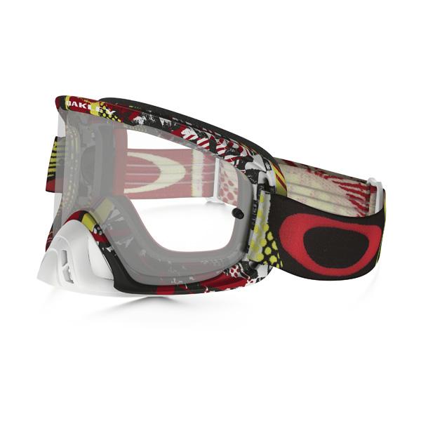 Oakley オークリー O Frame 2.0 Oフレーム2.0 MX ゴーグル Mosh Pit モッシュピット レッドイエロー クリアレンズ OO7068-17