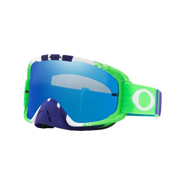 Oakley オークリー O Frame 2.0 Oフレーム2.0 MX ゴーグル Pinned Race ピンドレース ブルーグリーン ブラックアイスイリジウム&クリアレンズ OO7068-28