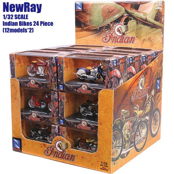 NewRay 1/32 スケールモデル 24個セット Indian インディアン