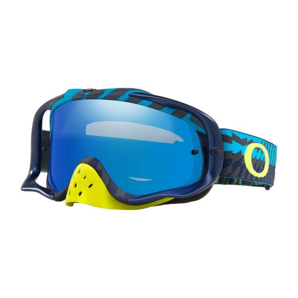 Oakley オークリー Crowbar クローバー MX ゴーグル Breaking Bumps ブレイキングバンプス ブルーグリーン ブラックアイスイリジウム&クリアレンズ OO7025-71