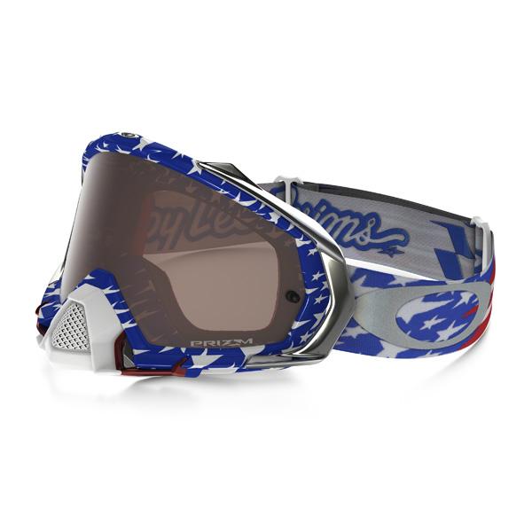 Oakley オークリー Mayhem Pro メイヘム プロ MX ゴーグル TLD Glory トロイリー グローリー レッドホワイトブルー プリズムMXブラックイリジウムレンズ OO7051-40