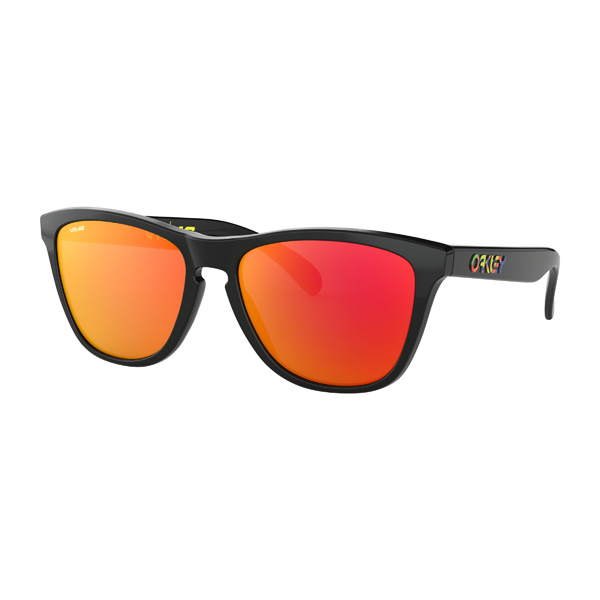 Oakley オークリー サングラス Frogskins フロッグスキン Valentino Rossi Collection バレンティーノ・ロッシ コレクション OO9013-E655 【Polished Black/Prizm Ruby】