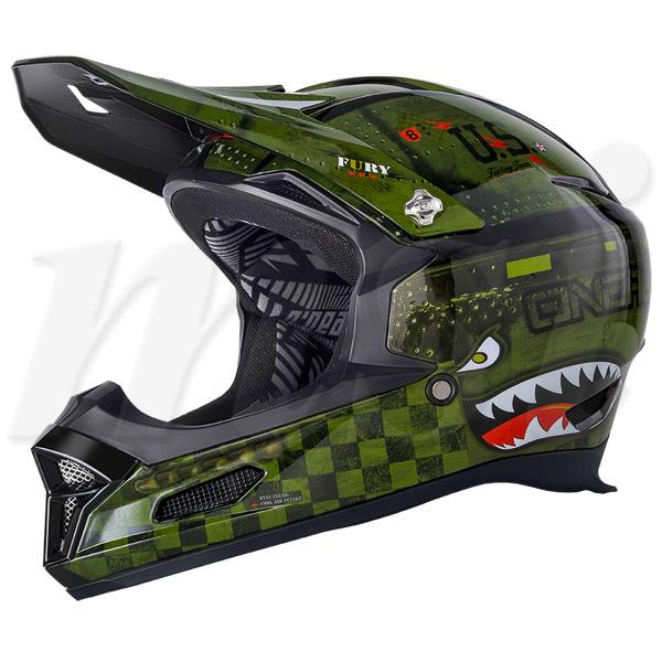 超特価!! O'Neal オニール 2018年 Fury RL II フューリーRL2 自転車用 ヘルメット Warhawk ウォーホーク