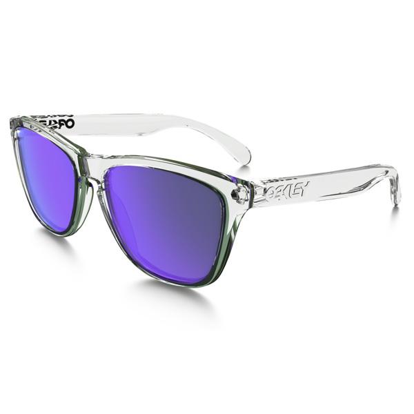 Oakley オークリー サングラス Frogskins フロッグスキン 24-305 【Polished Clear/Violet Iridium】