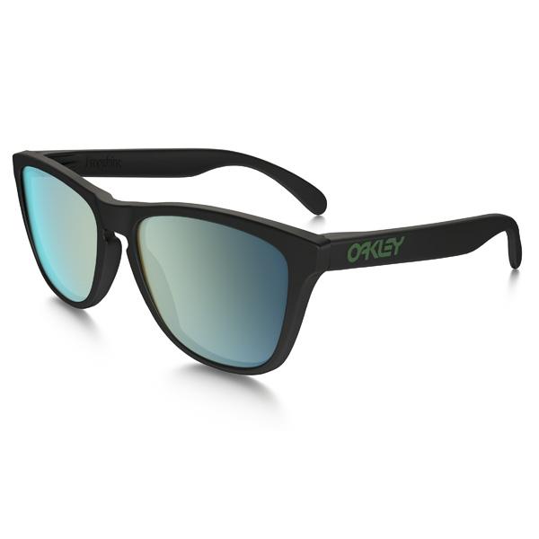 Oakley オークリー サングラス Frogskins フロッグスキン OO9245-43 アジアンフィット 【Matte Black/Emerald Iridium Polarized】