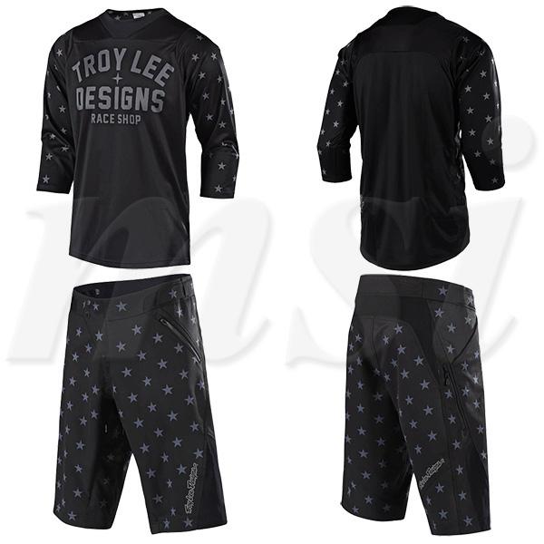 Troy Lee トロイリー 2018年 自転車用 Ruckus Shell ラッカス ショーツ & ジャージ セット Star スター