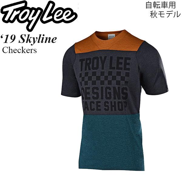 Troy Lee ジャージ 半袖 自転車用 Skyline 2019年 秋モデル Checkers
