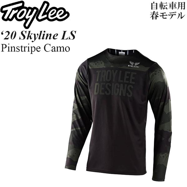 Troy Lee ジャージ 長袖 自転車用 Skyline 2020年 春モデル Pinstripe Camo