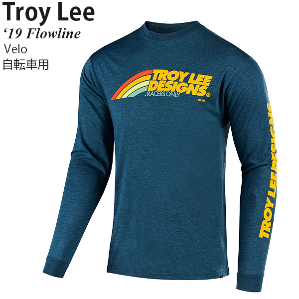 Troy Lee Designs Flowline Long Sleeve Bike Jersey Classic Shocker Black 2019