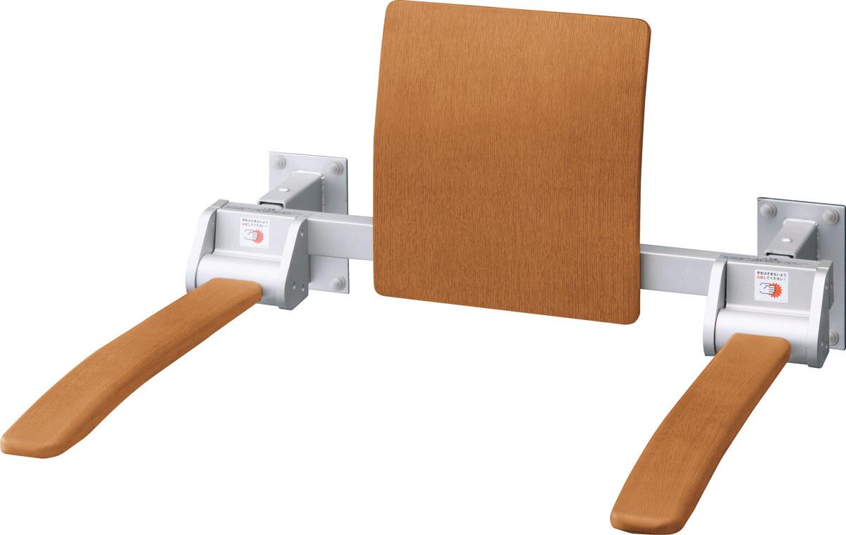 LIXIL INAX 肘掛け手すり(壁付式)背もたれ付 天然木タイプロングタイプ 受注品品番【KFC-274K/KC】【MSIウェブショップ】
