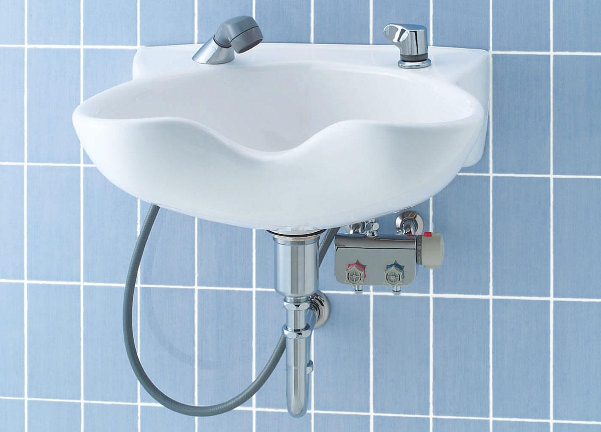 ◇LIXIL INAX 洗髪器セット 床排水(Sトラップ)【品番S-47】【MSIウェブショップ】