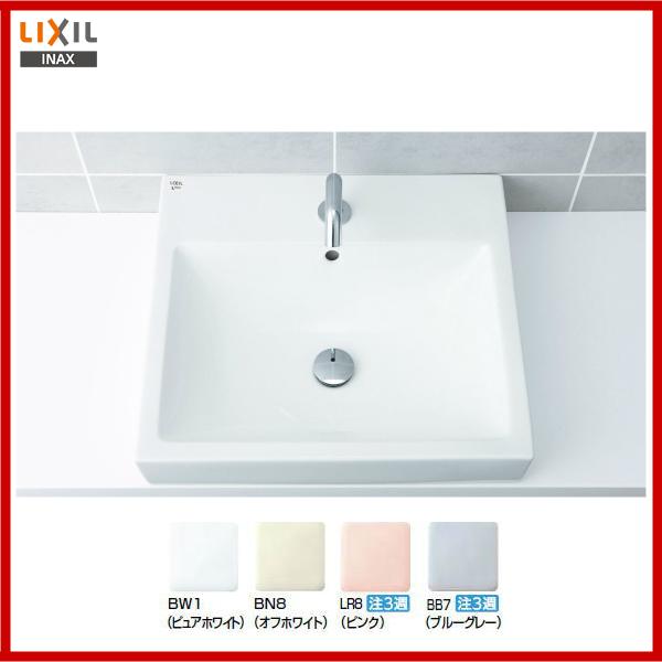 【送料無料】【L-536ANC】LIXIL INAX ベッセル式 角形洗面器洗面器洗面器のみ【MSIウェブショップ】