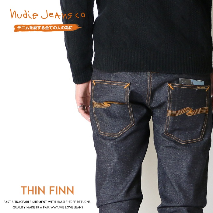 【国内正規品】【nudie jeans ヌーディージーンズ】 THIN FINN シンフィン スキニー ジーンズ メンズ インポート ブランド 海外ブランド THINFINN-934