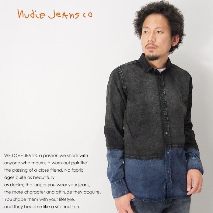 【nudie jeans ヌーディージーンズ】 シャツ 長袖 デニムシャツ men's メンズ 国内正規品 インポートブランド 海外ブランド 45161-3019